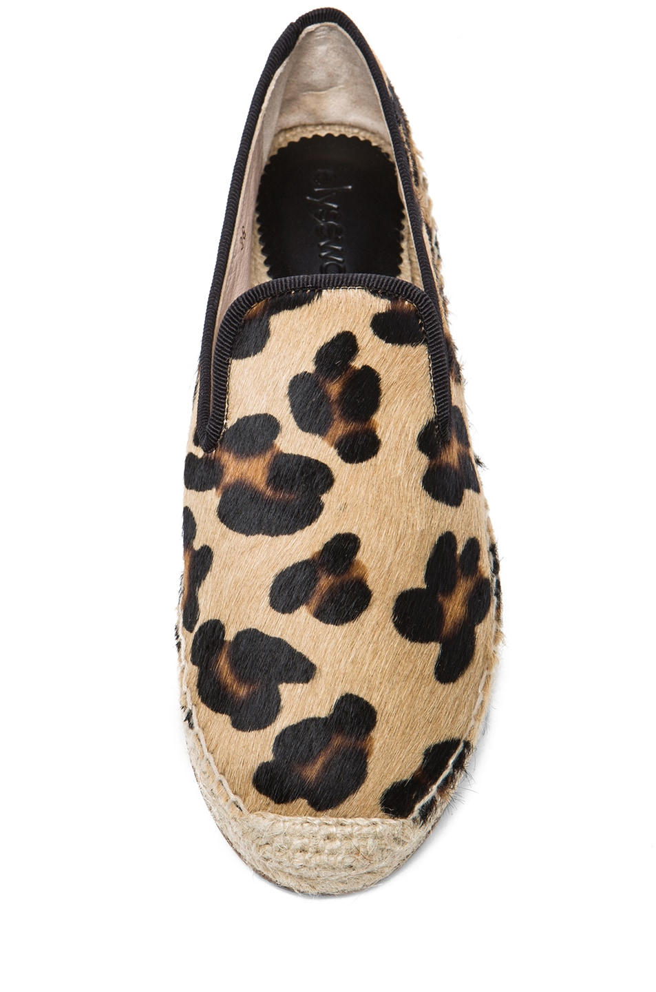 Image 4 of elysewalker los angeles Calf Hair Espadrilles in Leopard
