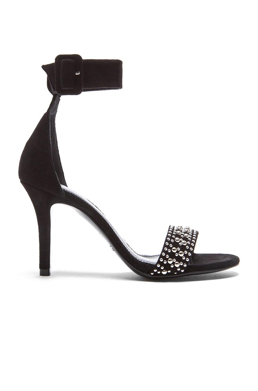 Image 1 of elysewalker los angeles Trudi Studded Suede Sandals in Black