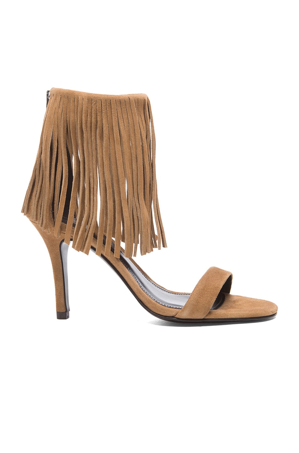 Image 1 of elysewalker los angeles Alex Suede Heels in Tan Suede