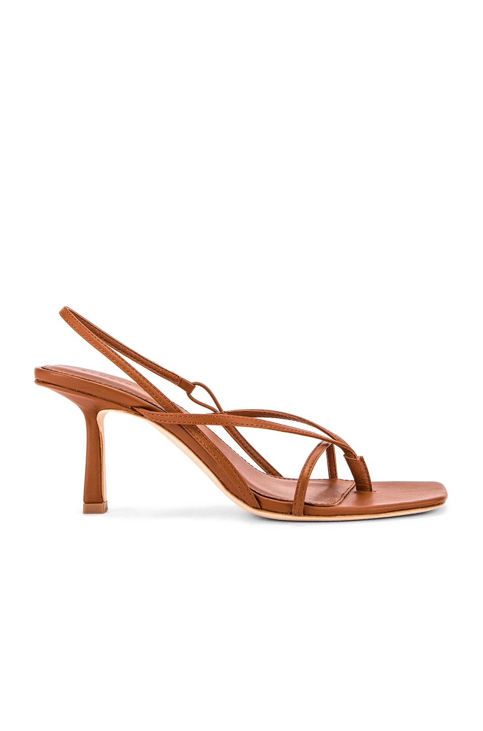 Image 1 of Studio Amelia 2.4 Flip Flop Heel in Tan Nappa Leather