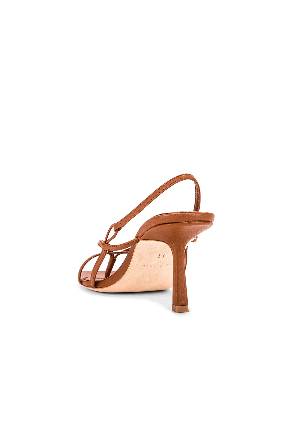 Image 3 of Studio Amelia 2.4 Flip Flop Heel in Tan Nappa Leather