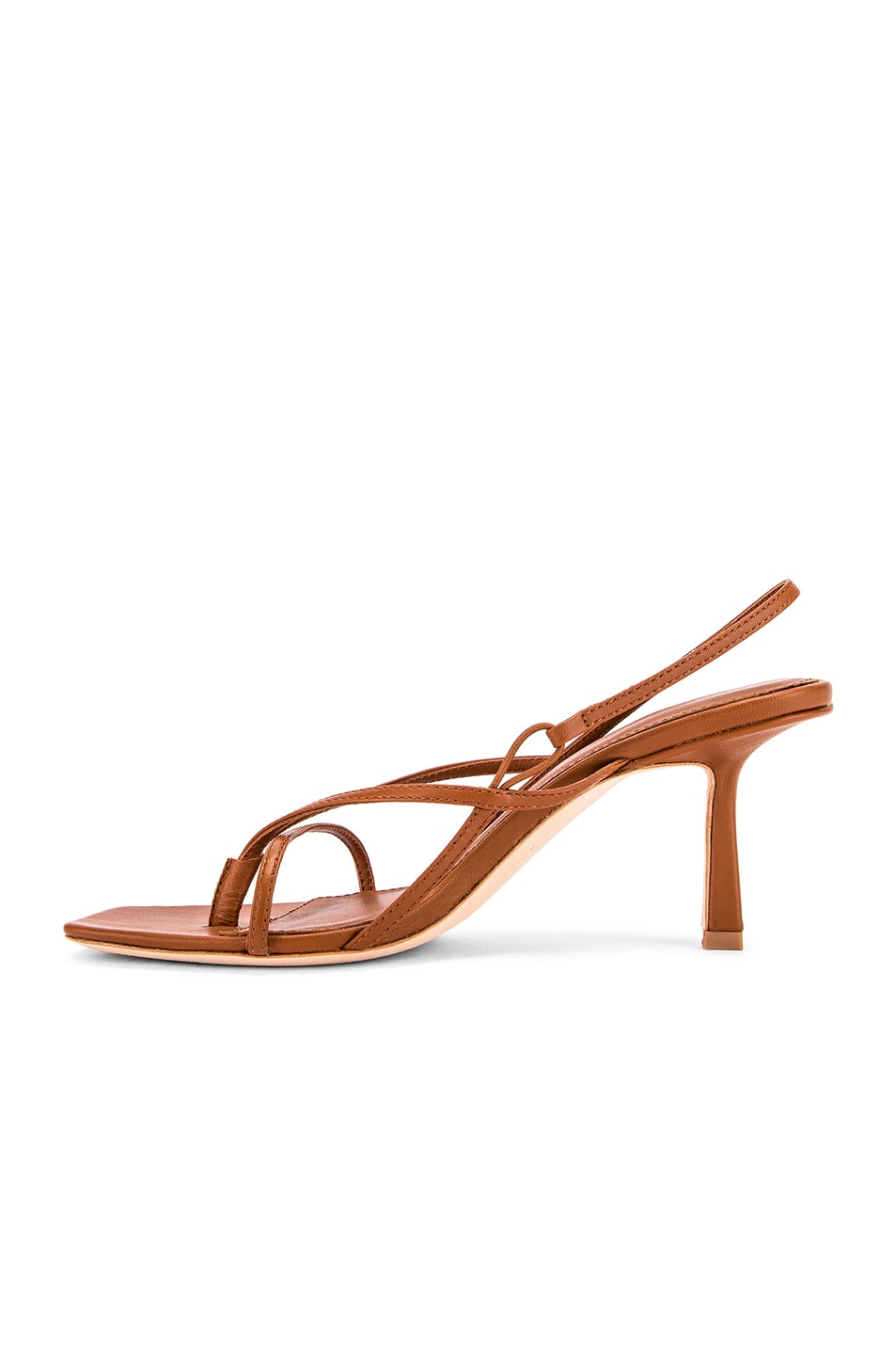Image 5 of Studio Amelia 2.4 Flip Flop Heel in Tan Nappa Leather