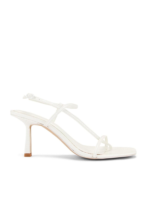 Image 1 of Studio Amelia Vegan 2.5 Cross Over Heel in Off White Croc Leather