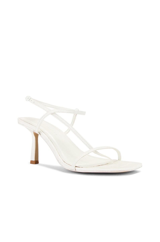 Image 2 of Studio Amelia Vegan 2.5 Cross Over Heel in Off White Croc Leather
