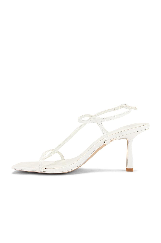 Image 5 of Studio Amelia Vegan 2.5 Cross Over Heel in Off White Croc Leather