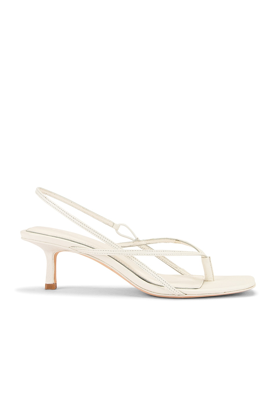 Image 1 of Studio Amelia 2.6 Flip Flop Heel in White Nappa Leather