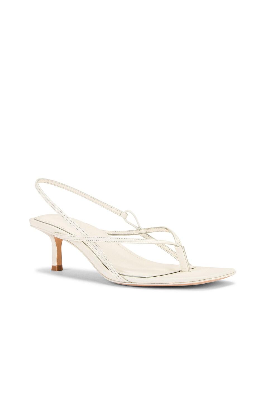 Image 2 of Studio Amelia 2.6 Flip Flop Heel in White Nappa Leather