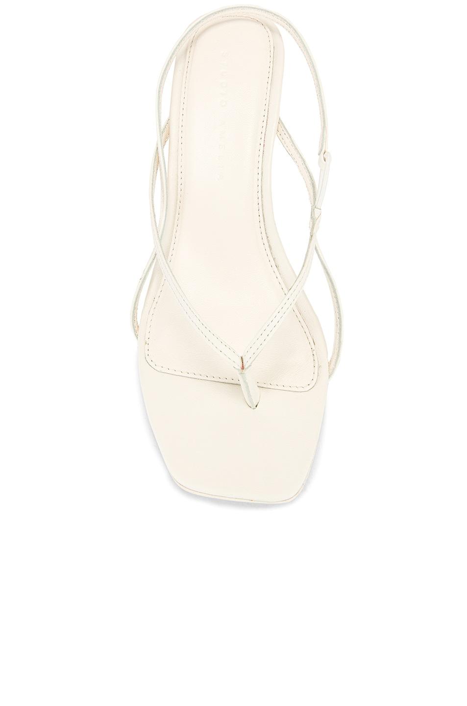 Image 4 of Studio Amelia 2.6 Flip Flop Heel in White Nappa Leather