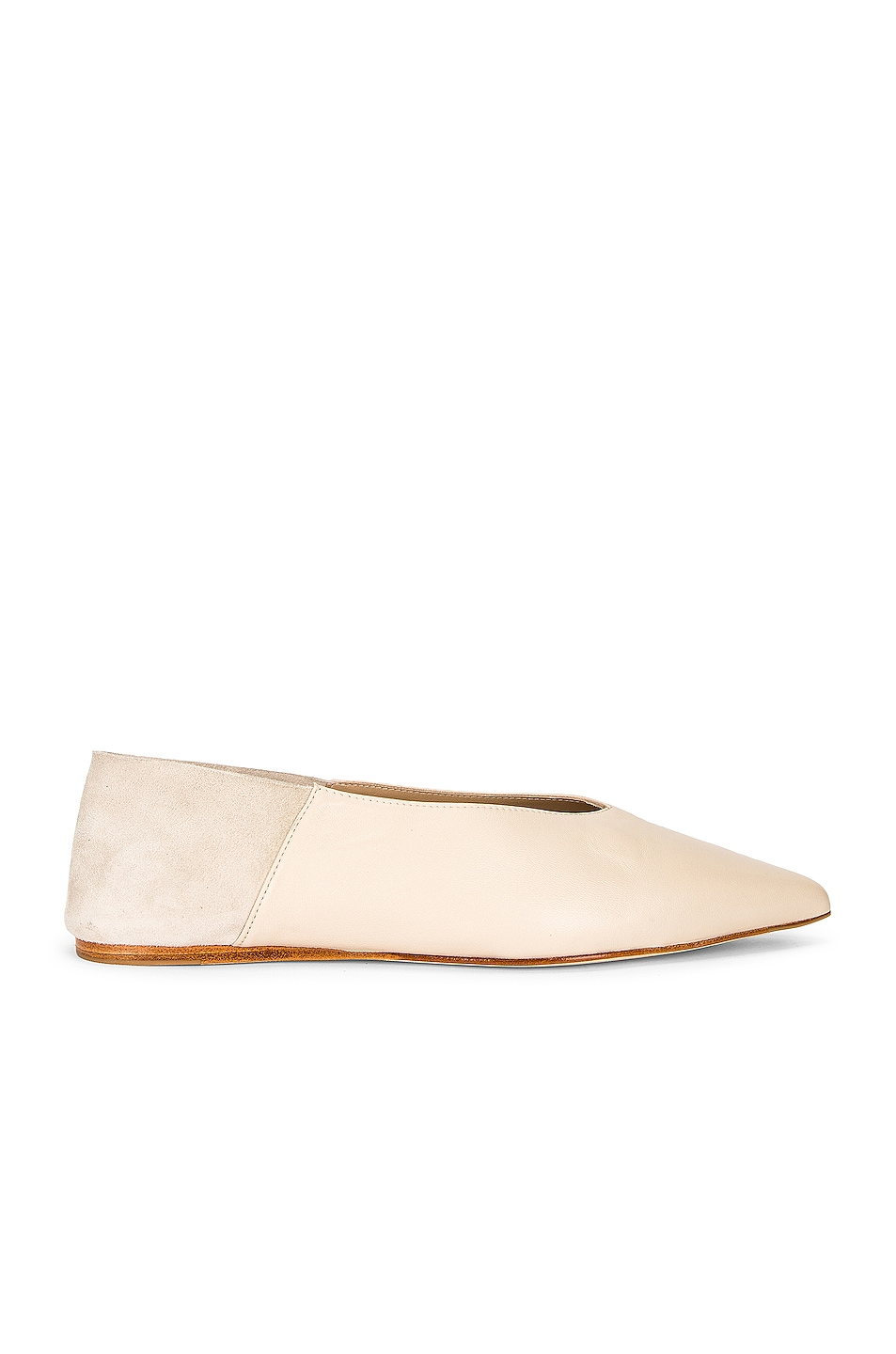 Image 1 of Studio Amelia Pointed Babouche Slipper Flat in Stone
