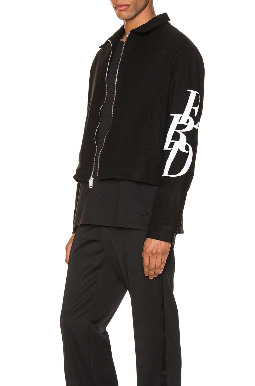 Image 4 of Enfants Riches Deprimes Black Logo Jacket in Black