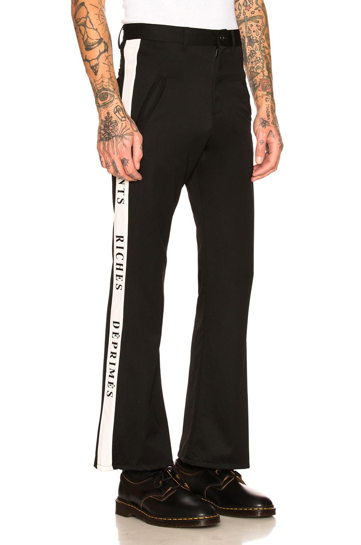 Image 1 of Enfants Riches Deprimes Wool Track Pants in Black & White