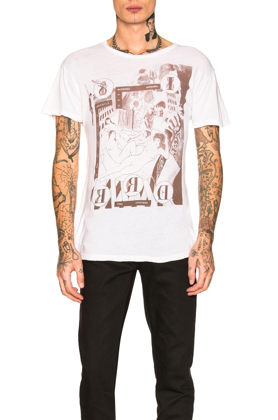 Image 1 of Enfants Riches Deprimes Bath House Orgy Tee in White & Brown