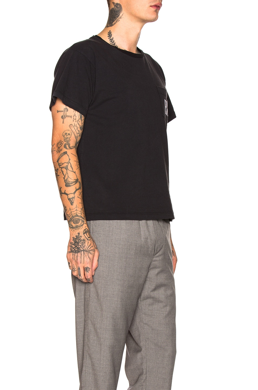 Image 2 of Enfants Riches Deprimes ERD Logo Pocket Tee in Black & White