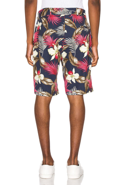 Image 3 of Engineered Garments Sunset Short Hawaiian Floral Java Cloth in Navy