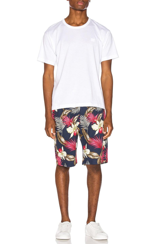 Image 4 of Engineered Garments Sunset Short Hawaiian Floral Java Cloth in Navy