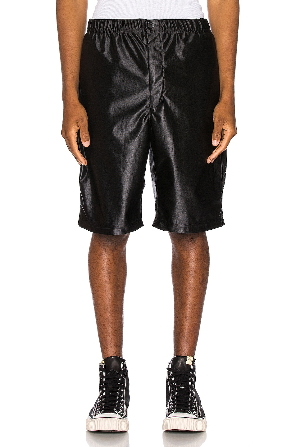 Image 1 of Engineered Garments Jog Short Polyester Duzzle in Black