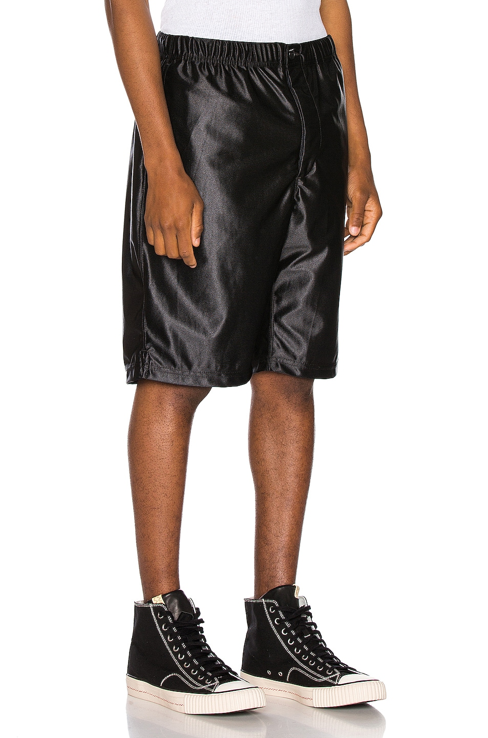 Image 2 of Engineered Garments Jog Short Polyester Duzzle in Black