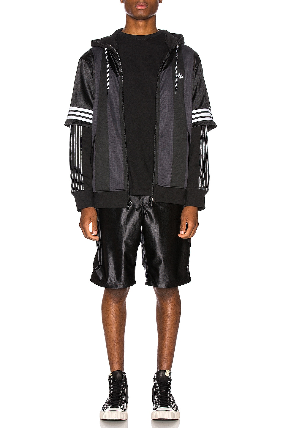 Image 4 of Engineered Garments Jog Short Polyester Duzzle in Black