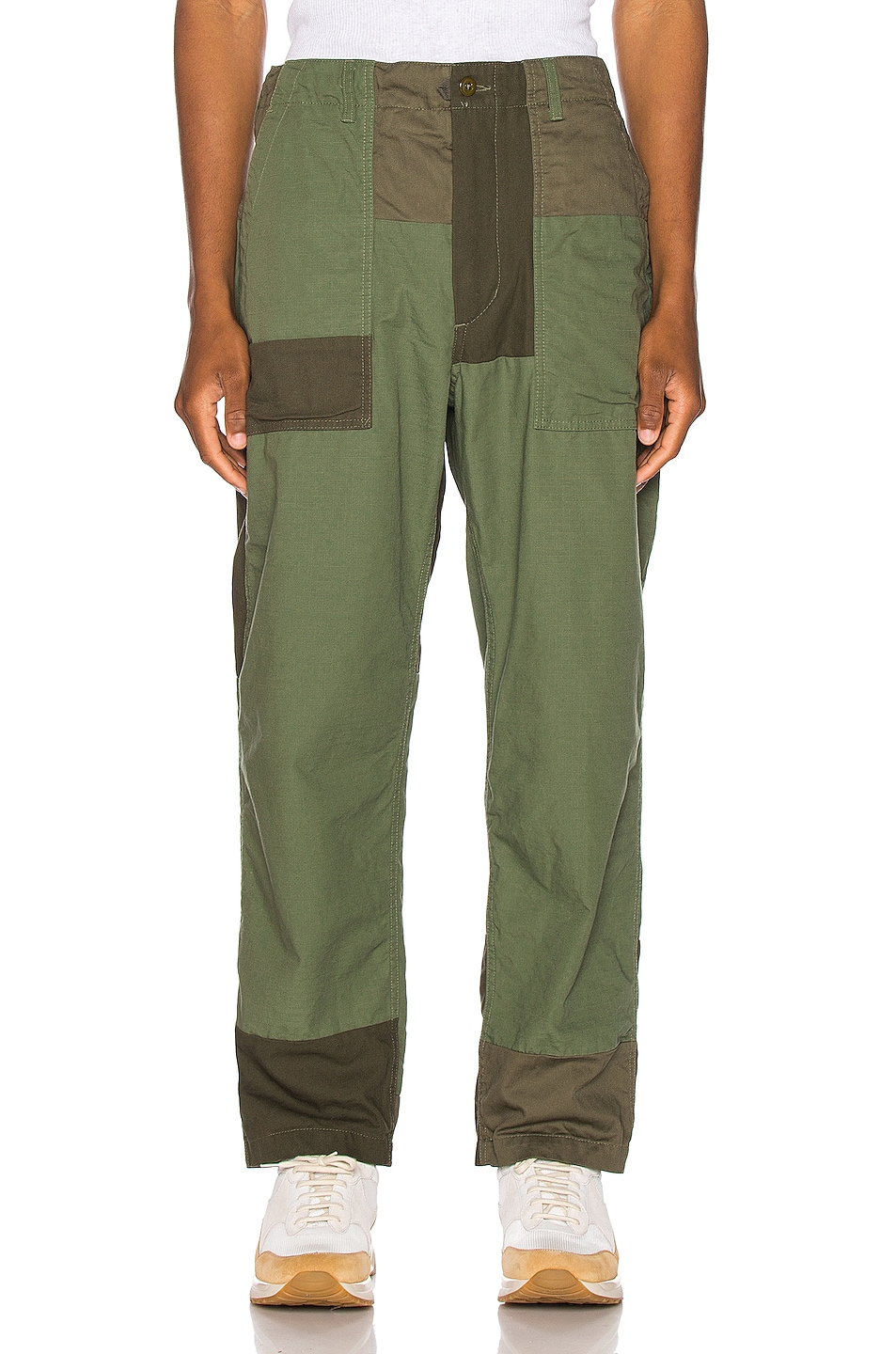 Image 1 of Engineered Garments Fatigue Pant Cotton Ripstop in Olive