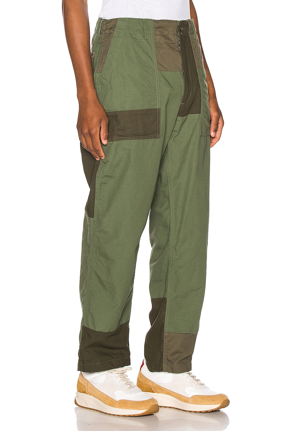 Image 2 of Engineered Garments Fatigue Pant Cotton Ripstop in Olive