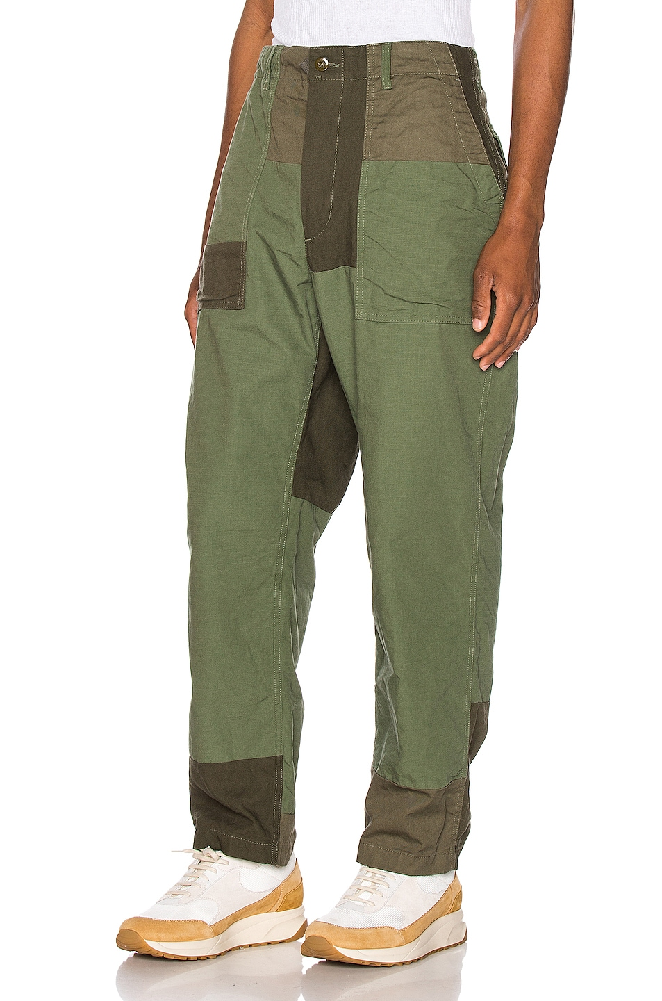 Image 3 of Engineered Garments Fatigue Pant Cotton Ripstop in Olive
