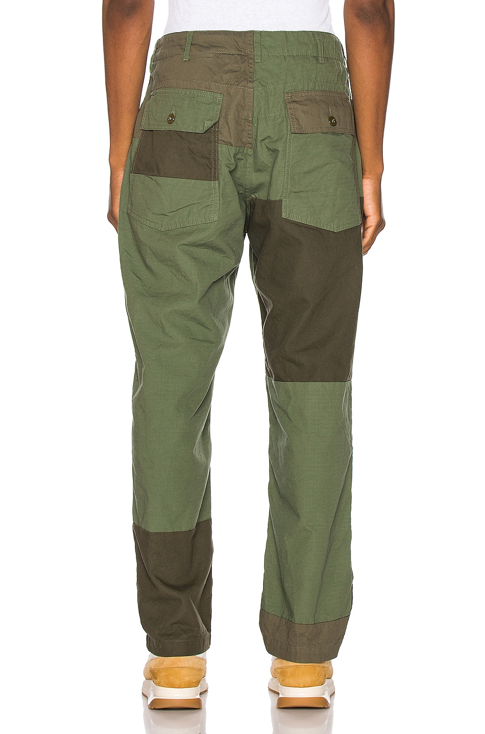 Image 4 of Engineered Garments Fatigue Pant Cotton Ripstop in Olive