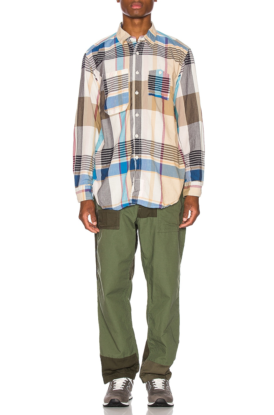 Image 5 of Engineered Garments Fatigue Pant Cotton Ripstop in Olive