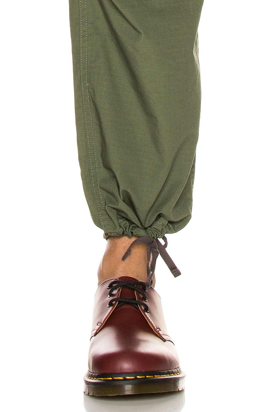 Image 7 of Engineered Garments FA Pant in Olive Cotton Ripstop