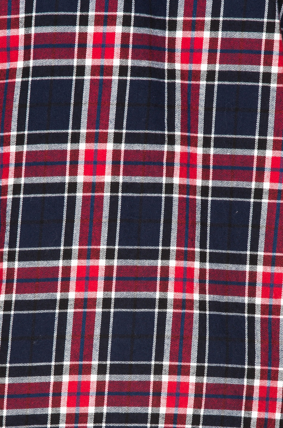 Image 6 of Engineered Garments Big Plaid Flannel Work Shirt in Navy & Red