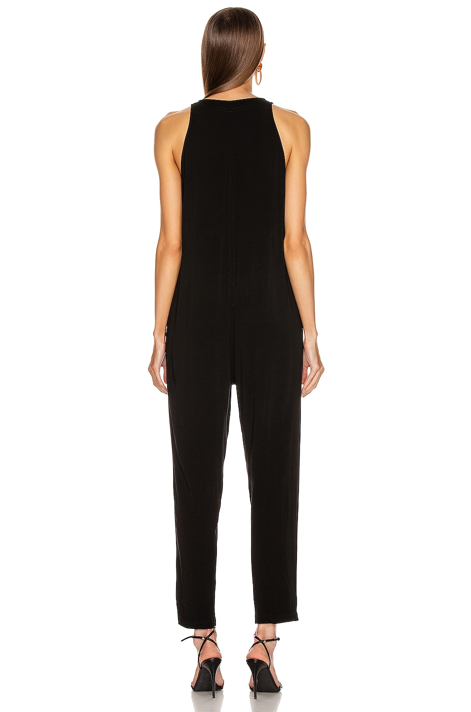 Image 3 of Enza Costa Front Zip Jumpsuit in Black