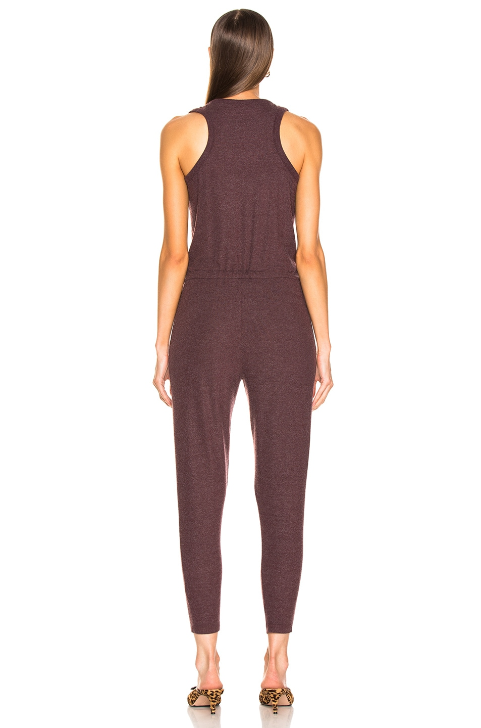 Image 3 of Enza Costa Sleeveless Drawcord Jumpsuit in Bordeaux
