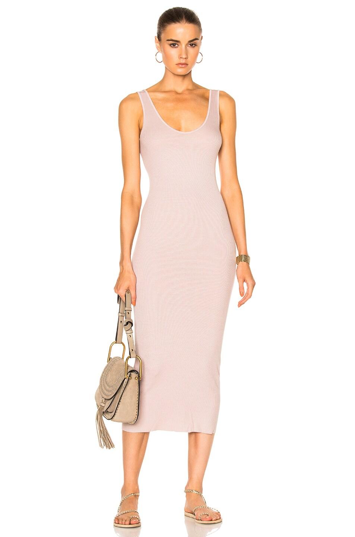 Pink midi tank dress