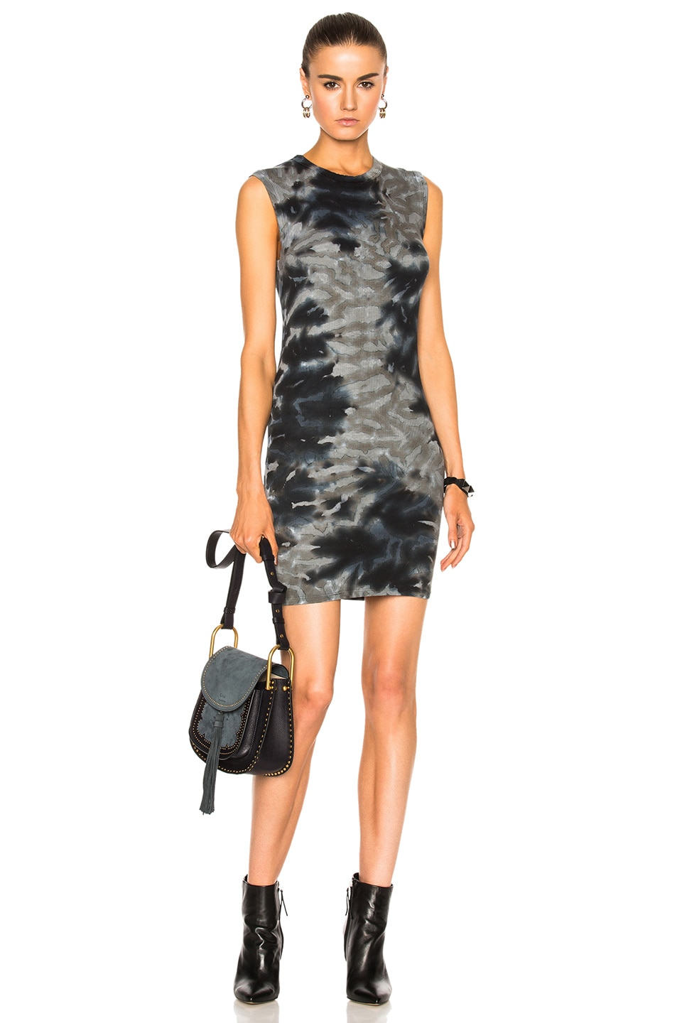 Image 1 of Enza Costa Rib Sleeveless Mini Dress in Utility Patina