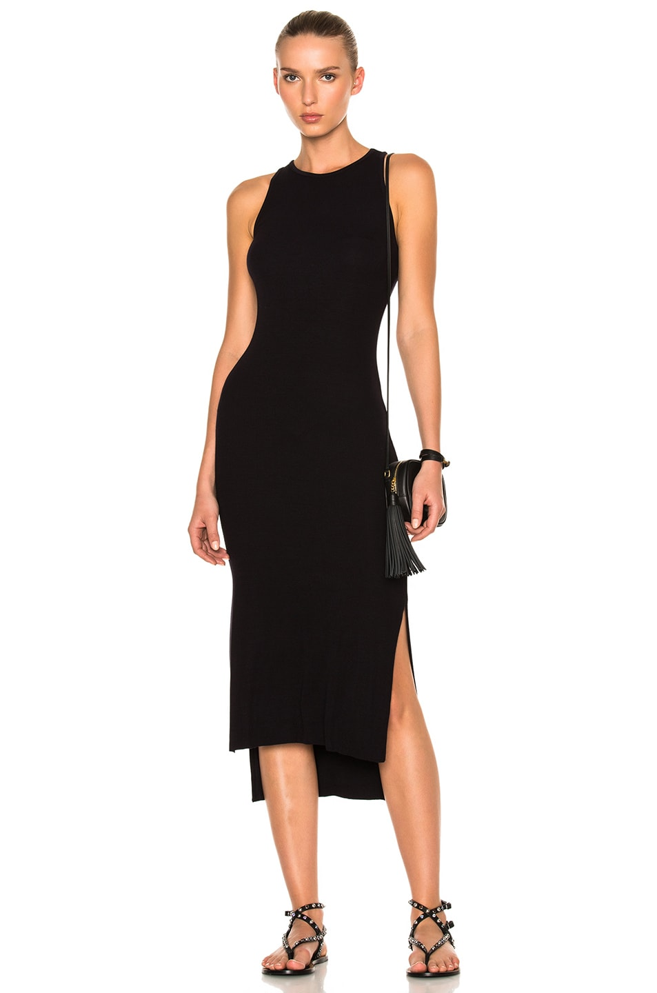 Enza Costa Woman One-shoulder Ribbed-knit Midi Dress Black Size M Enza Costa Get To Buy Sale Online Cheapest Cheap Online Sale Cheapest Price Manchester Sale Online Clearance Geniue Stockist uy3poYaVg
