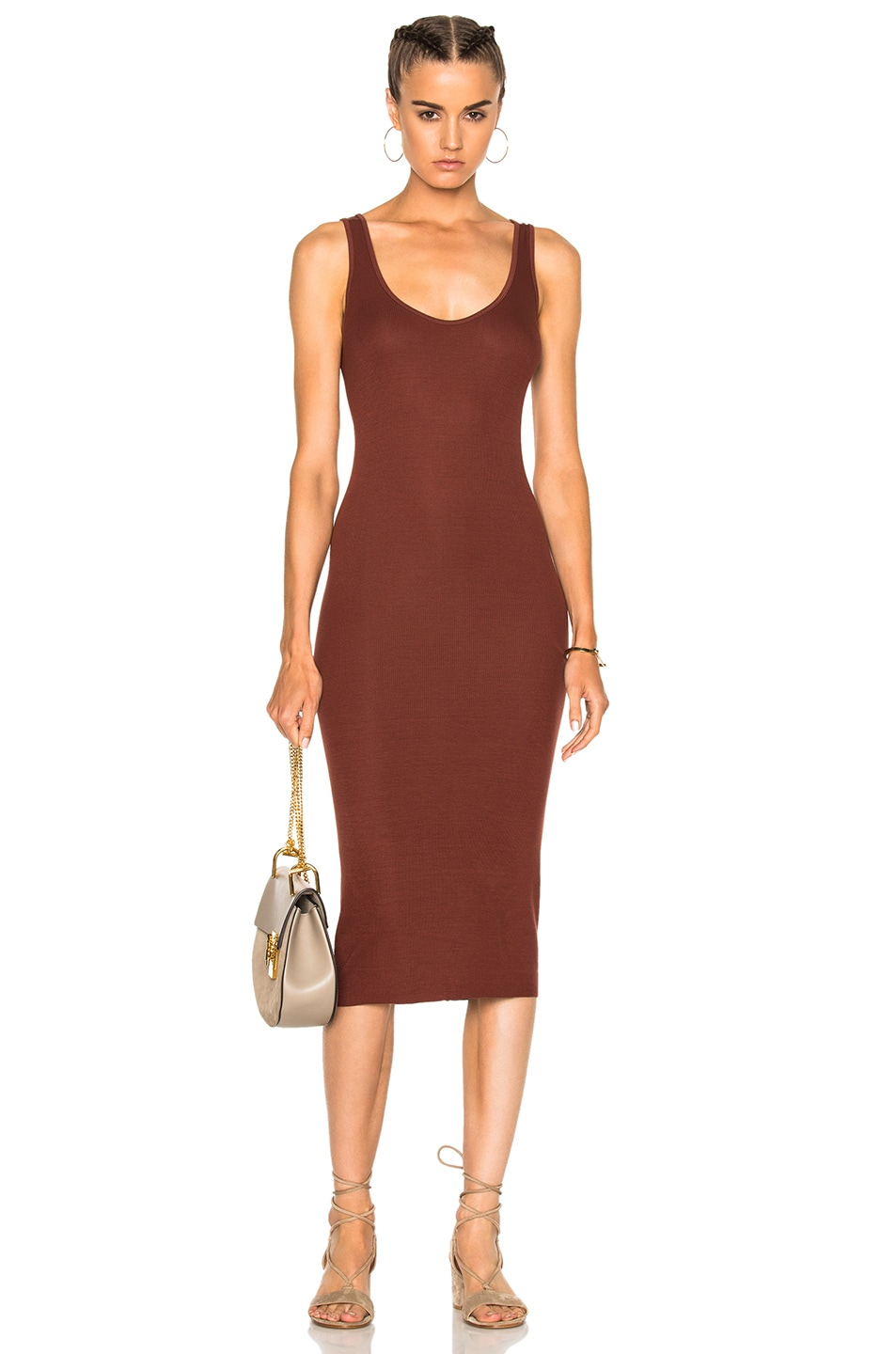 Image 1 of Enza Costa Rib Tank Dress in Sable