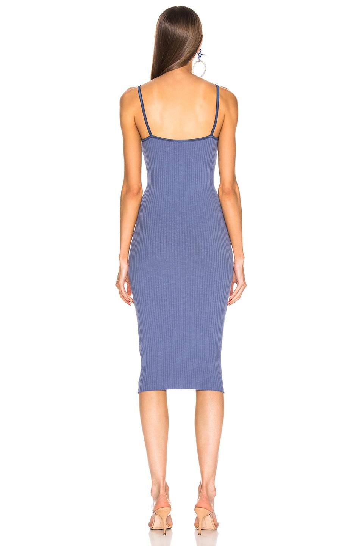 Image 3 of Enza Costa for FWRD Rib Strappy Bra Midi Dress in Vintage Blue