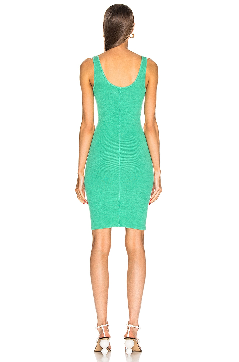 Image 3 of Enza Costa for FWRD Rib Tank Dress in Jade Green