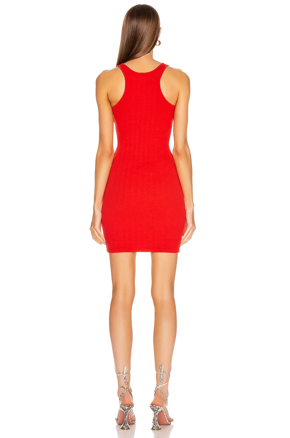 Image 3 of Enza Costa Rib Racer Mini Dress in Dahlia