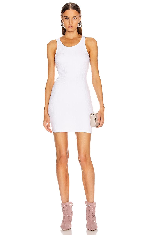 Image 1 of Enza Costa Rib Racer Mini Dress in White
