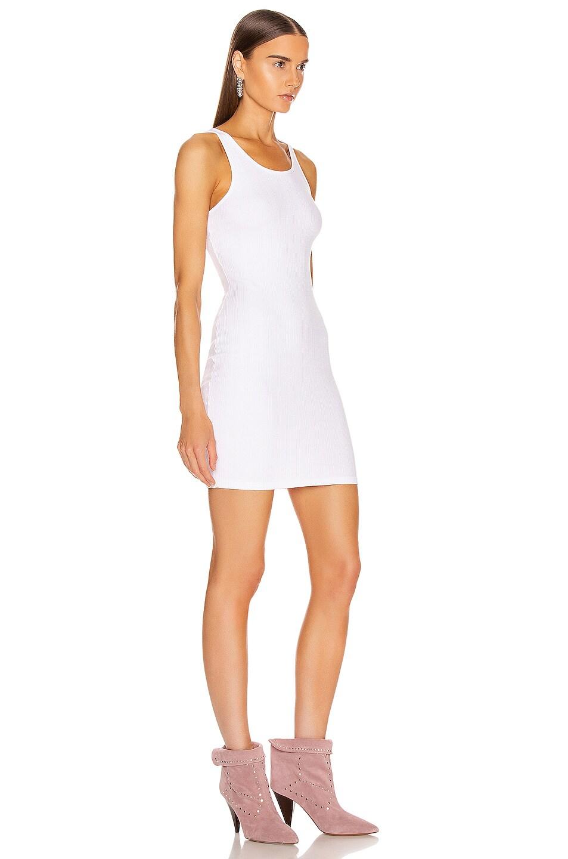 Image 2 of Enza Costa Rib Racer Mini Dress in White