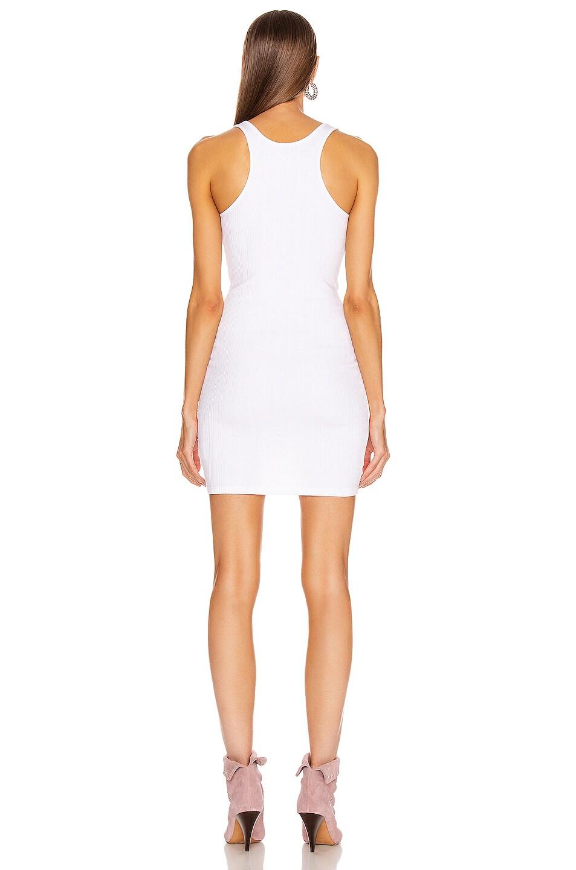 Image 3 of Enza Costa Rib Racer Mini Dress in White