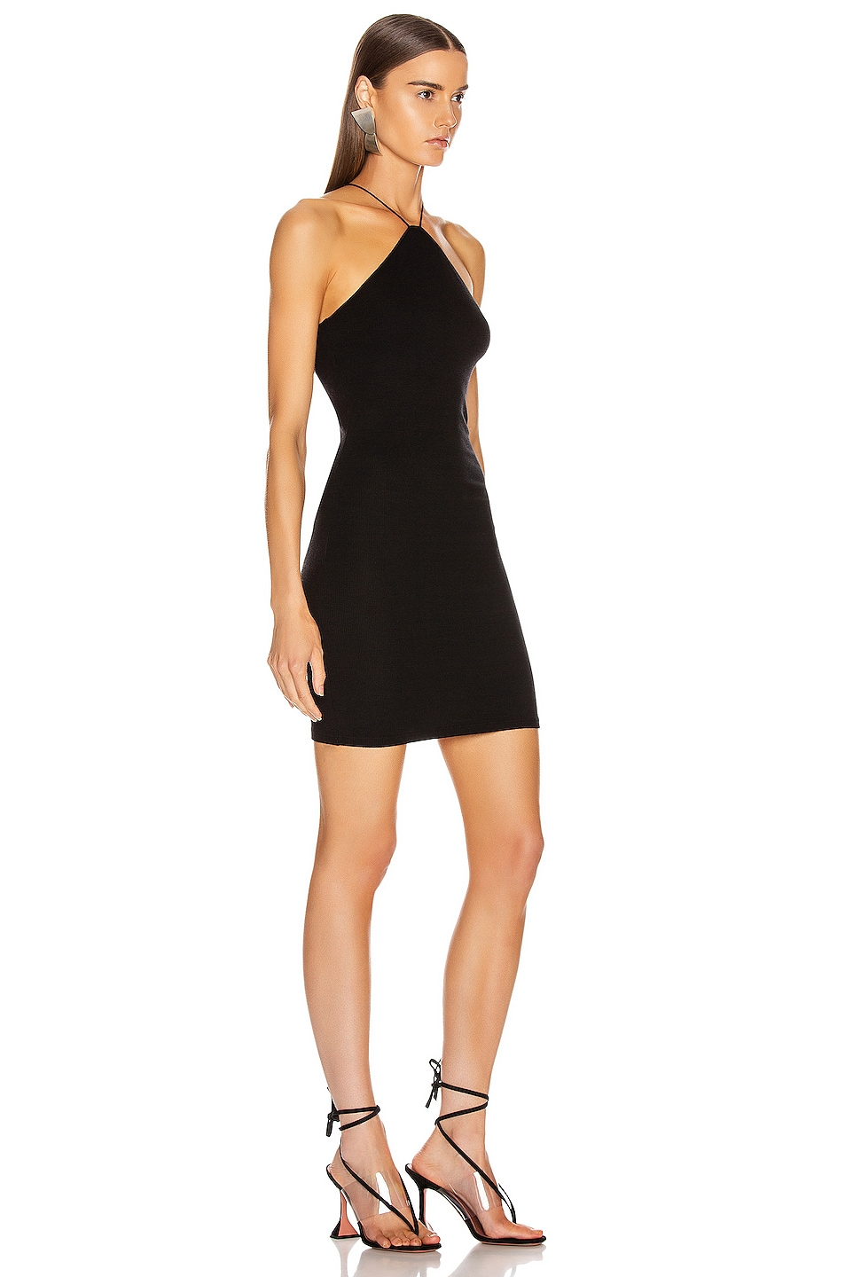 Image 2 of Enza Costa Strappy Halter Dress in Black