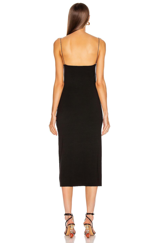 Image 4 of Enza Costa Strappy Side Slit Dress in Black