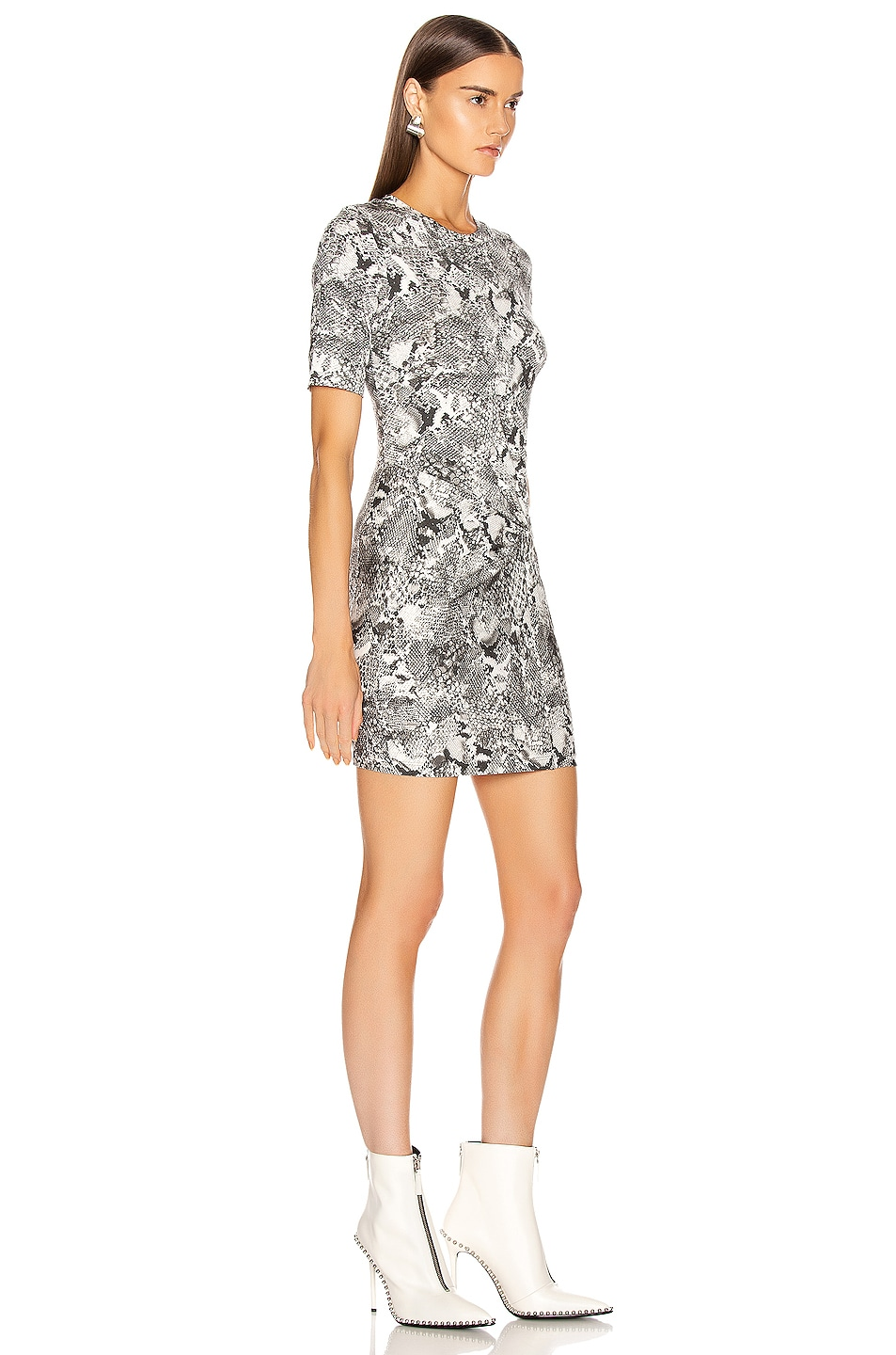Image 2 of Enza Costa Side Knot Crew Mini Dress in Boa