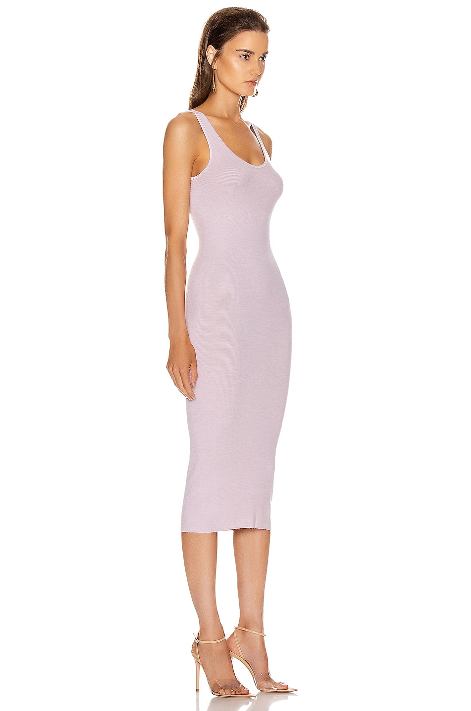 Image 2 of Enza Costa Rib Tank Midi Dress in Pink Crystals