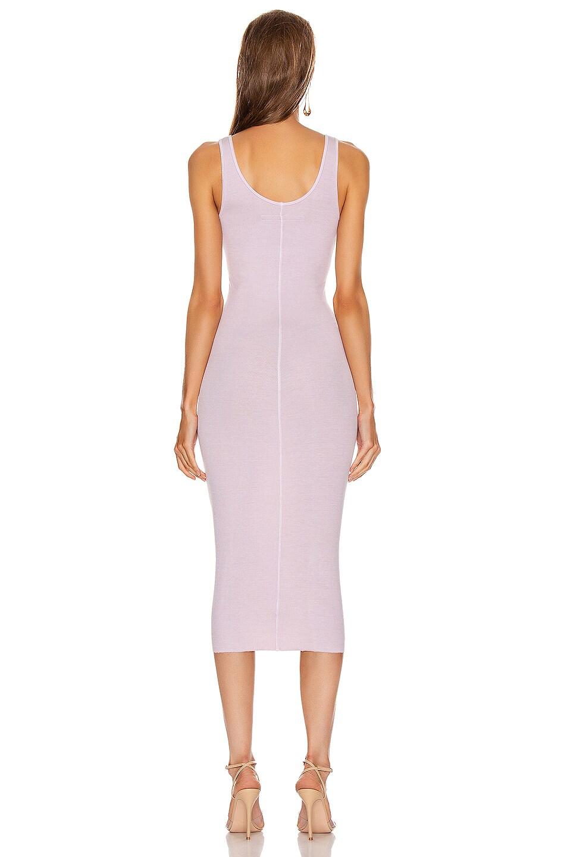 Image 3 of Enza Costa Rib Tank Midi Dress in Pink Crystals