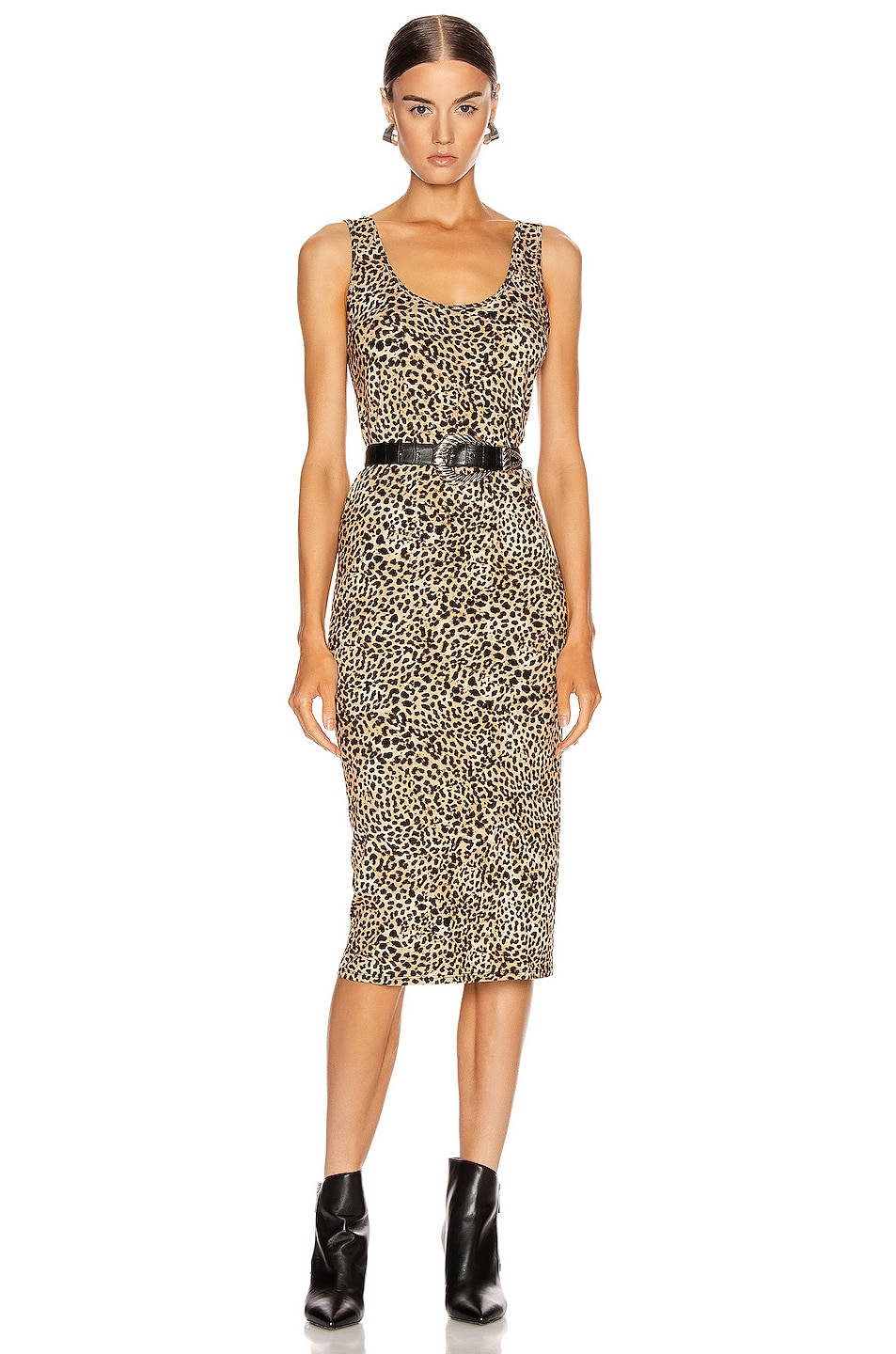 Image 1 of Enza Costa Tank Midi Dress in Ocelot