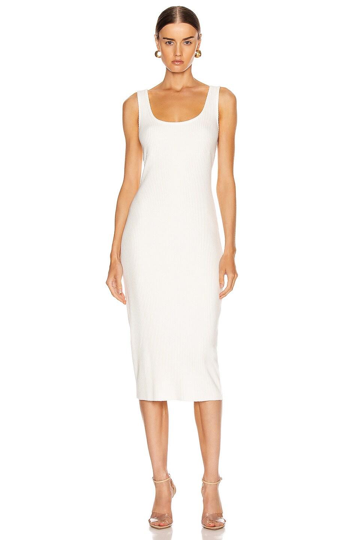 Image 1 of Enza Costa Rib Tank Midi Dress in Winter White