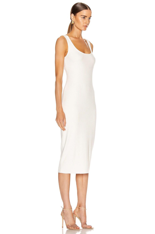 Image 2 of Enza Costa Rib Tank Midi Dress in Winter White