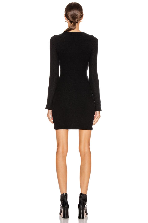 Image 3 of Enza Costa Sweater Knit Button Cuff Mini Dress in Black